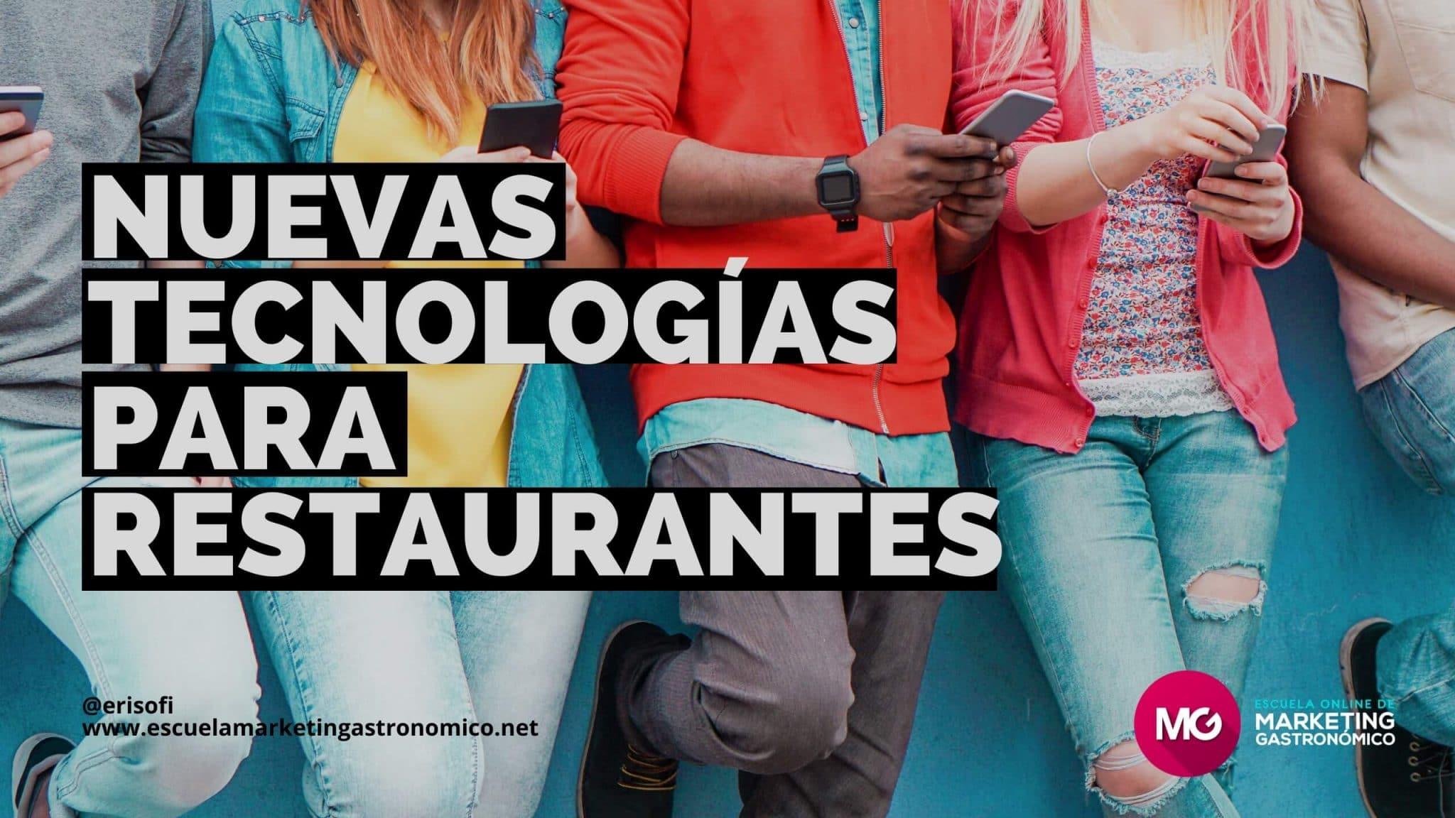 nuevas tecnologías restaurantes hosteleria